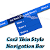 Css3 Thin Style Navigation Bar for Blogger