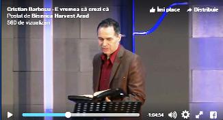 Cristian Barbosu — E vremea să crezi că Dumnezeu e suveran! (26.02.2017)