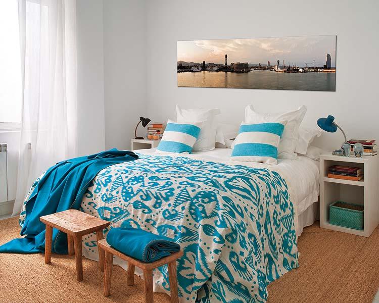 Blog achados de decora o azul turquesa ou cobalto qual for Dormitorio turquesa