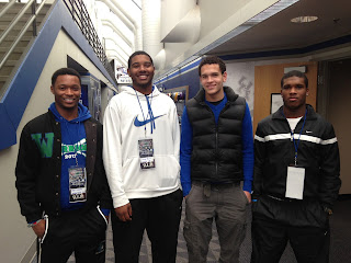 Mike Edwards, George Brown Jr., Tyrell Gilbert and Derek Kief