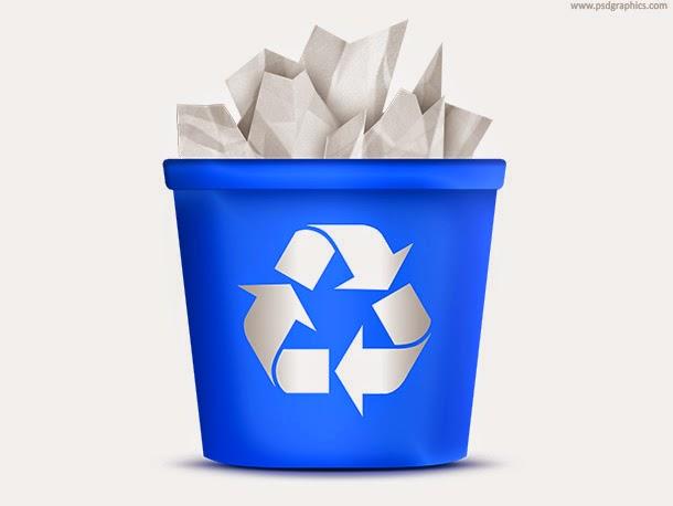 Recycling Bin Icon PSD