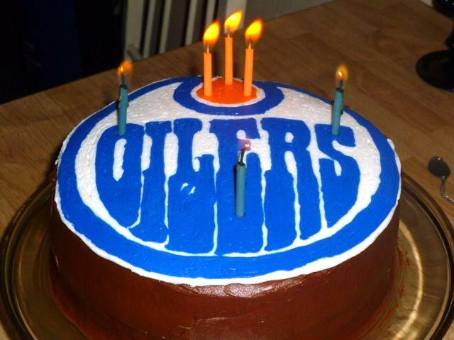 Lainycakes Edmonton Oilers Birthday Cake Using Frozen