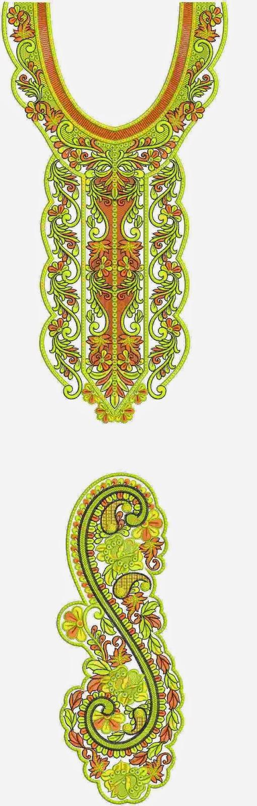 kwiltwerk borduurwerk Kurti rok ontwerp
