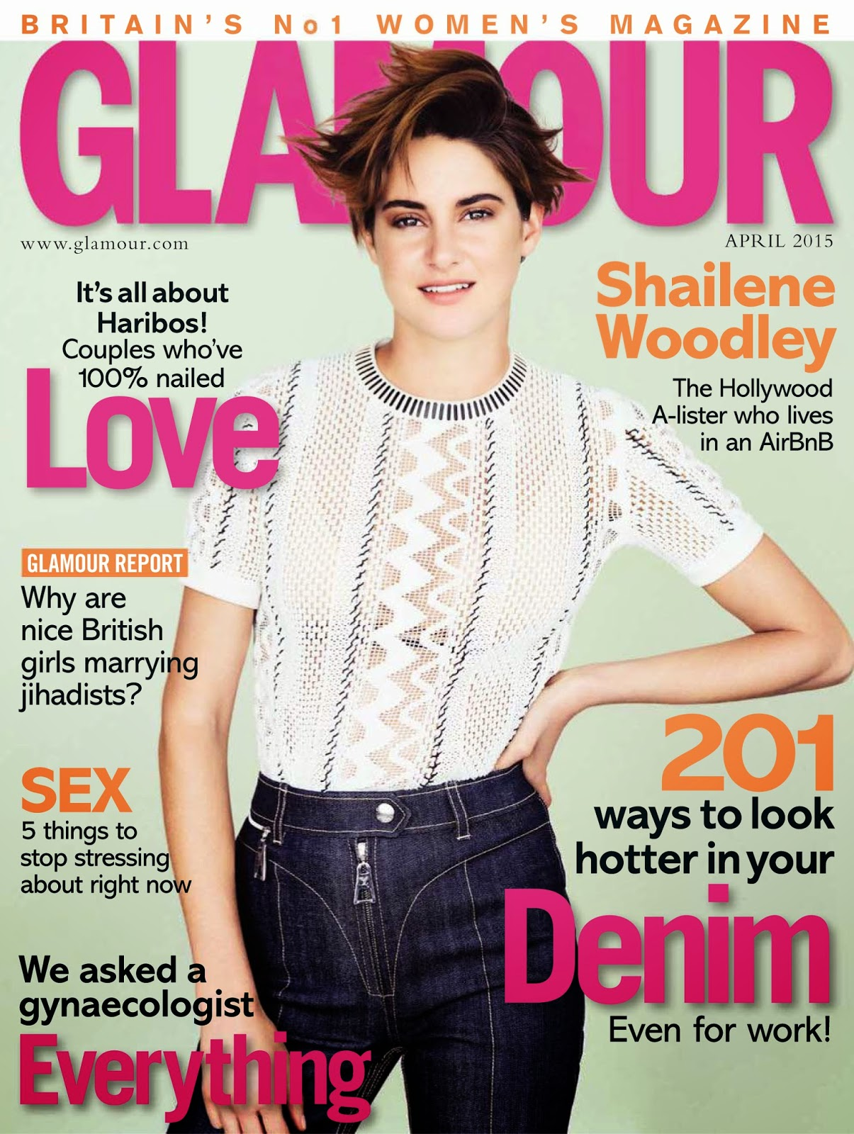 Actress @ Shailene Woodley - Glamour UK April 2015