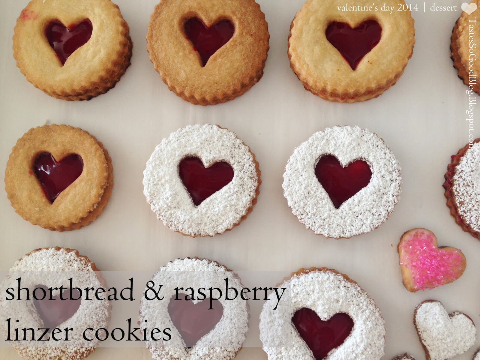 Shortbread and Raspberry Linzer Cookies | Tastes So Good Blog