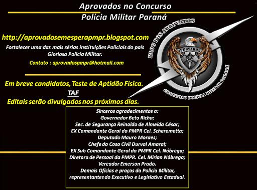 Concurso SOLDADO POLÍCIA MILITAR PARANÁ 2012/2013