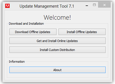 Adobe Update Management Tool 7.1