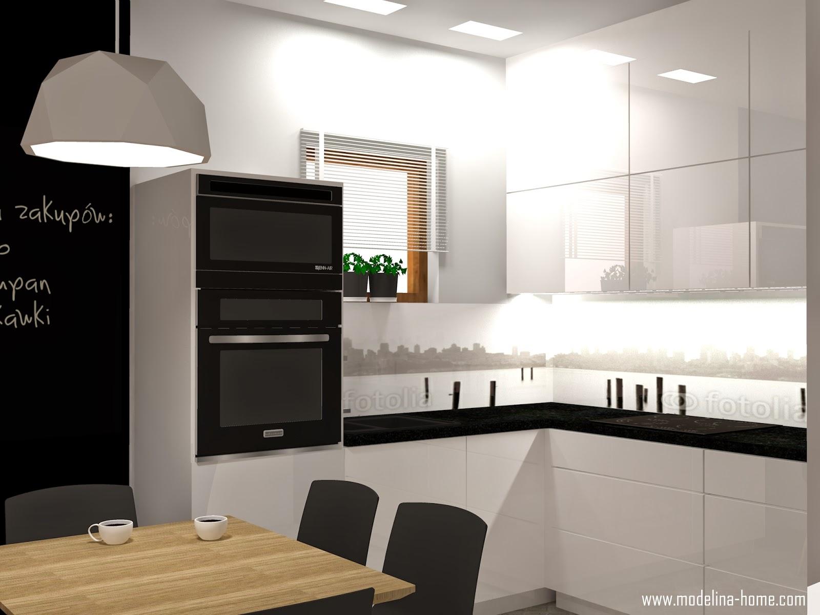 Modelina Kuchnia Bialo Czarna
