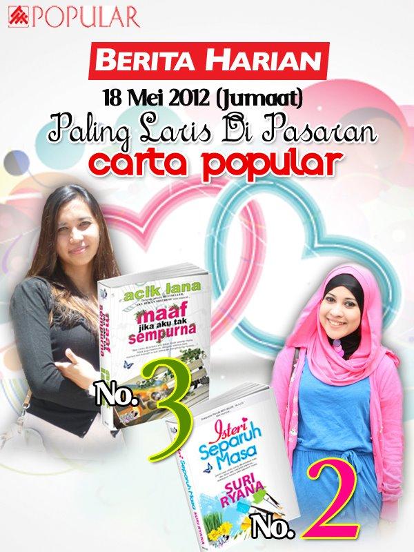 berita harian 18 mei 2012 jumaat carta popular bookstore laris di