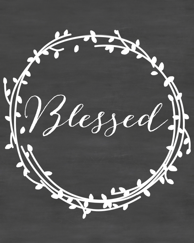 Blessed Thanksgiving Chalkboard Printable