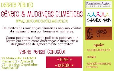 cartaz do evento preparatório para a Rio+20, Sobrevivendo à Mudança, com exibição do filme Weathering Change