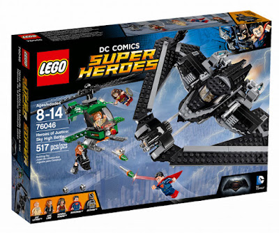TOYS : JUGUETES - LEGO DC Comics Super Heroes   76046 Héroes de la Justicia : Combate Aereo  Heroes of Justice : Sky High Battle  Batman v Superman: El Amanecer de la Justicia  Batman v Superman: Dawn of Justice   Producto Oficial Película 2016 | Piezas: 517 | Edad: 8-14 años  Comprar en Amazon España & buy Amazon USA
