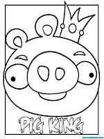 Gambar Pig King Raja Babi Hijau Untuk Diwarnai