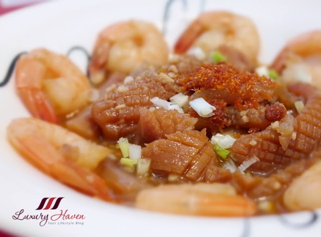 lunar new year spicy hebe hiam cuttlefish prawns