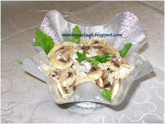 Carpaccio di funghi champignon