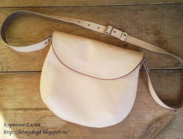 сумочка из натуральной итальянской кожи и замши