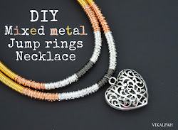 DIY Mixed metal Jump ring necklace