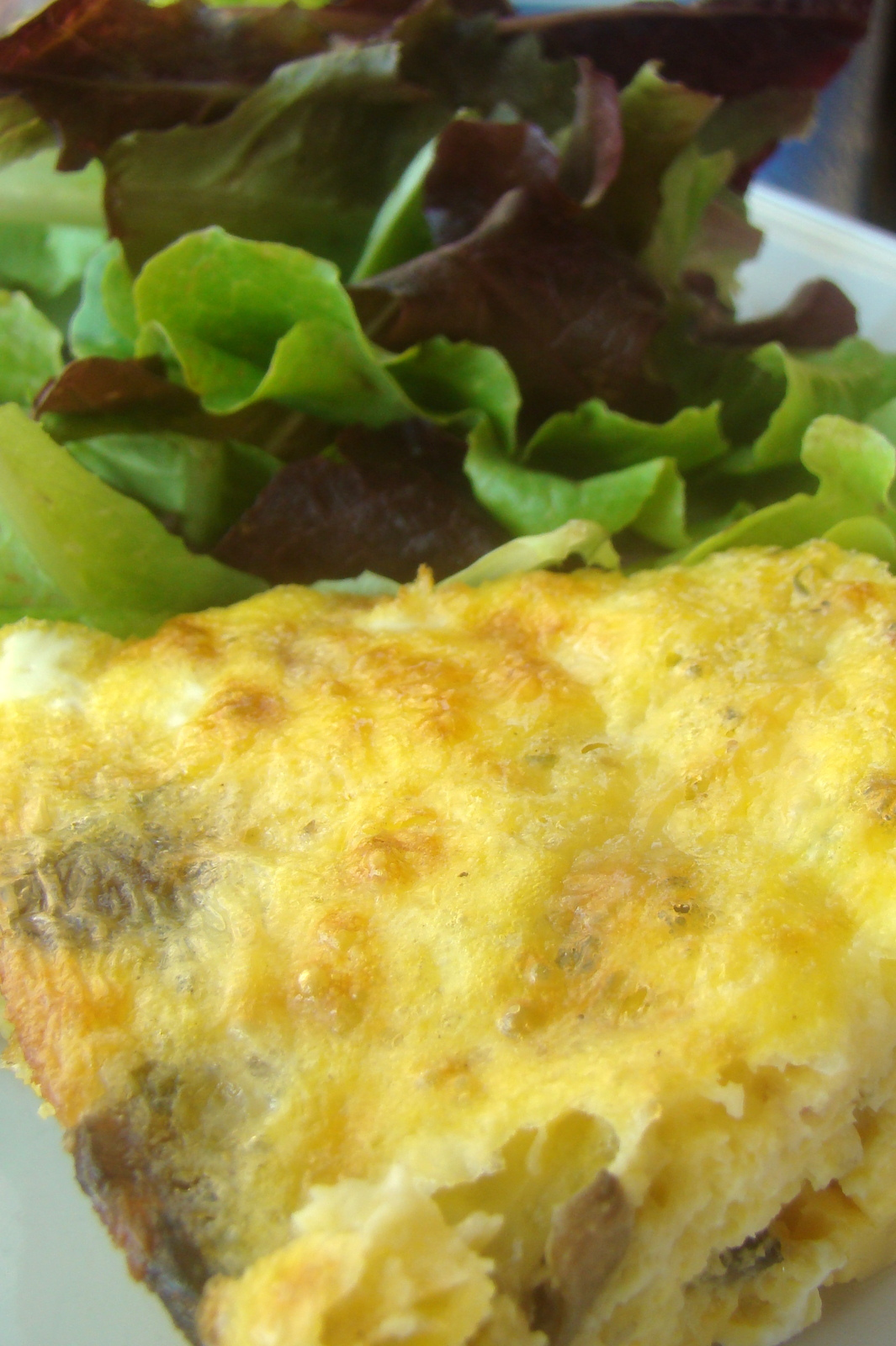 ... : Mushroom and Cheddar Crustless Quiche (GAPS : grain-free : primal