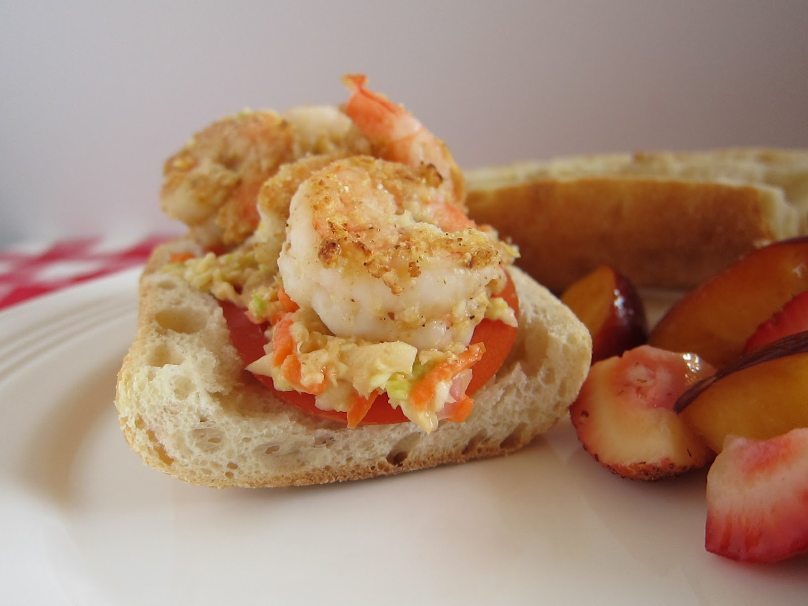 The Reluctant Home Cook: Lightened Up Shrimp Po'boy Sandwiches