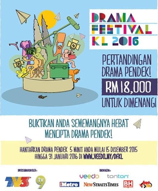 Peraduan Drama Pendek 5 Minit & Menang RM18,000