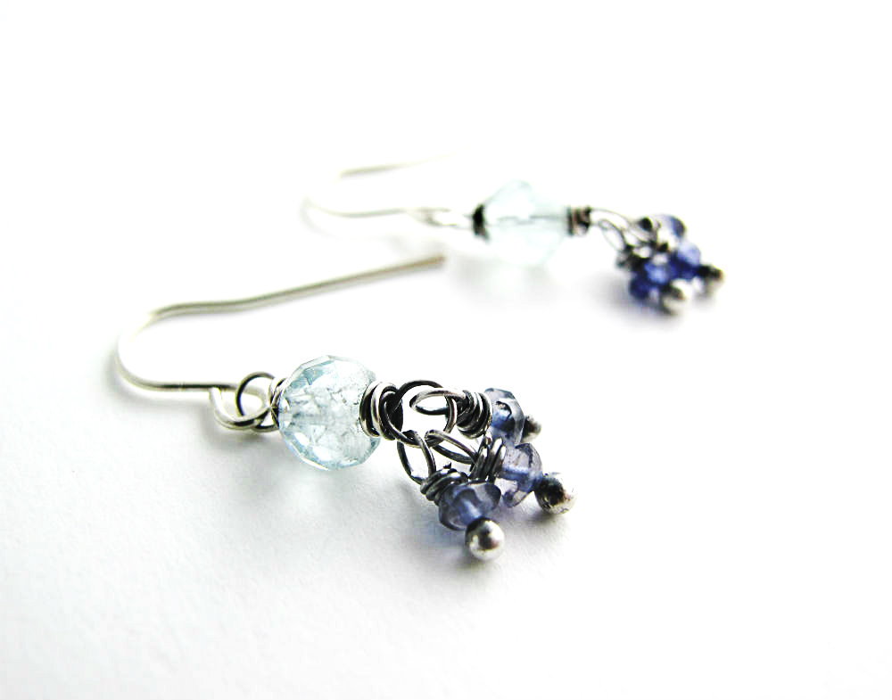 Sea Maiden Earrings by Beth Hemmila of Hint Jewelry