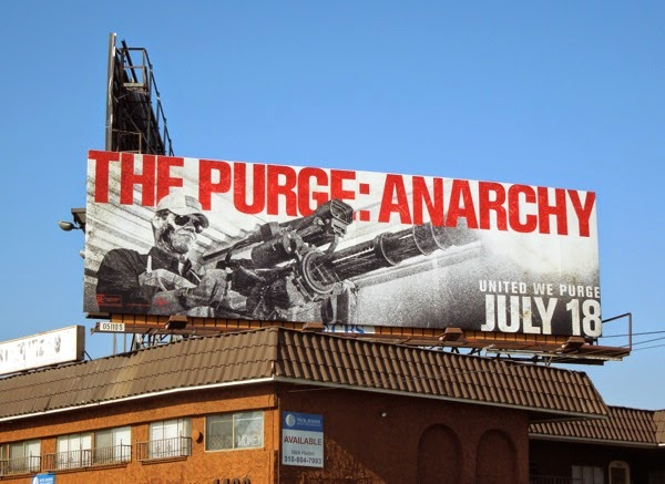 Purge Anarchy movie billboard