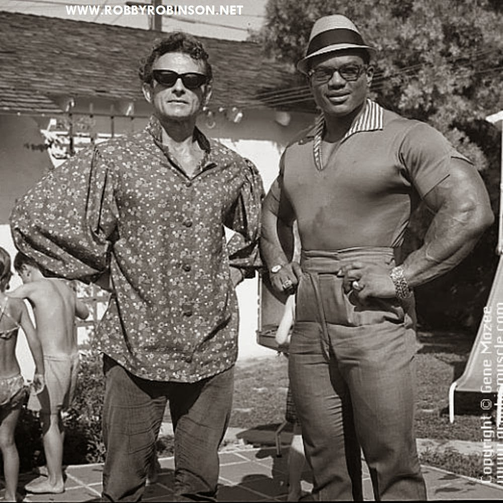 """THE IRON GURU"" VINCE GIRONDA AND SERGIO ""THE MYTH"" OLIVA Read about RR's training and life experience, about other legends of Golden Era of bodybuilding and what really happened behind the scenes of Weider's empire - in RR's BOOK ""The BLACK PRINCE; My Life in Bodybuilding: Muscle vs. Hustle"" ● www.robbyrobinson.net/books.php ●"