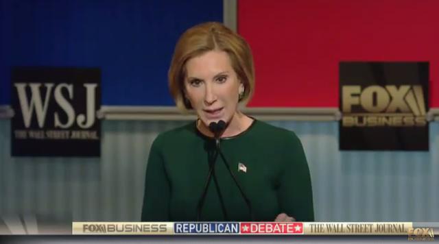 Fox Business Republican Debate Carly Fiorina green