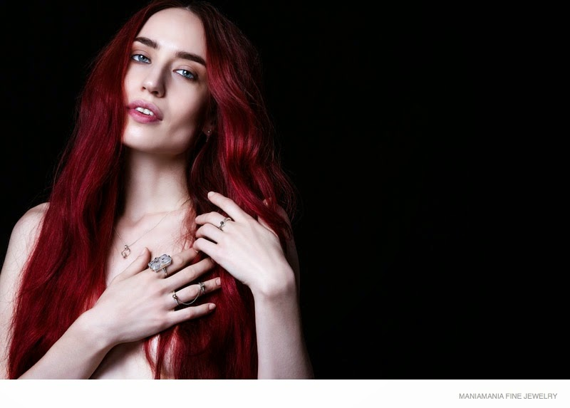 ManiaMania Fine Jewellery Campaign 2015 featuring Lizzy Jagger