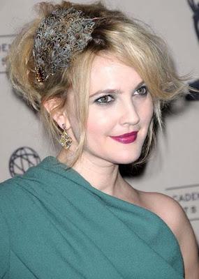 Drew Barrymore Gold Dangle Earrings