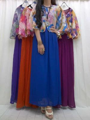 Maxi Dress Polos Bunga Kode 290055