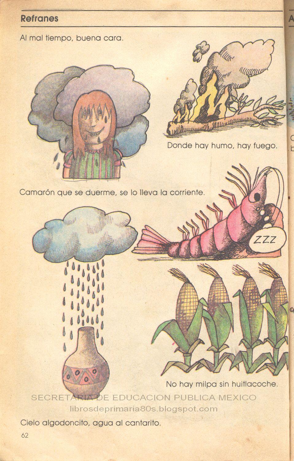 Artesanato Mdf Kit Higiene ~ Libros de Primaria de los 80's Refranes Español Lecturas 3er grado