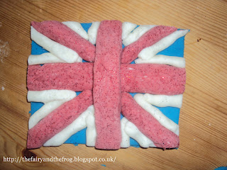 Union Jack Play Dough