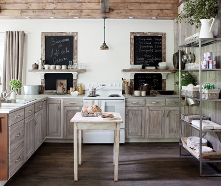 Information about home design rustic fall farmhouse for Cuisine rustique