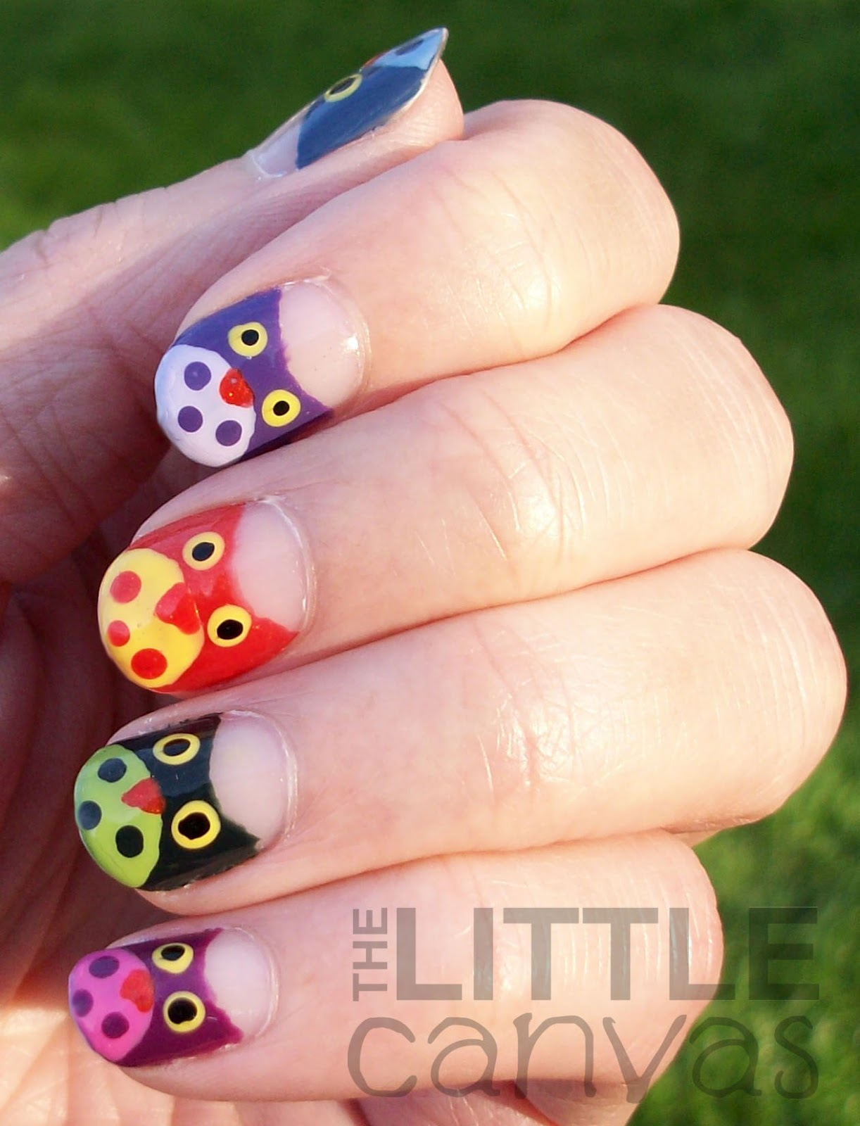 The Little Canvas Owl Mani