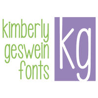 Fonts by Kimberly Geswein