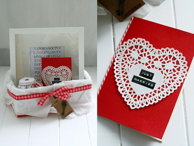Geldgeschenk zur Hochzeit schön verpacken, Hochzeitsgeschenk, Hochzeitsbox to go, Creadienstag, Frollein Pfau, selbstgemacht, DIY, wedding gift, Mrs. and Mrs., Brautpaar