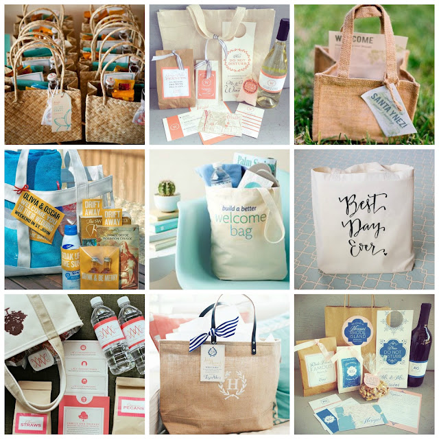 welcome bag - bolsas para bodas - destination wedding