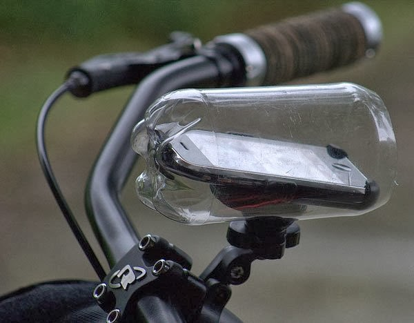 smartphone music inside plastic bottle