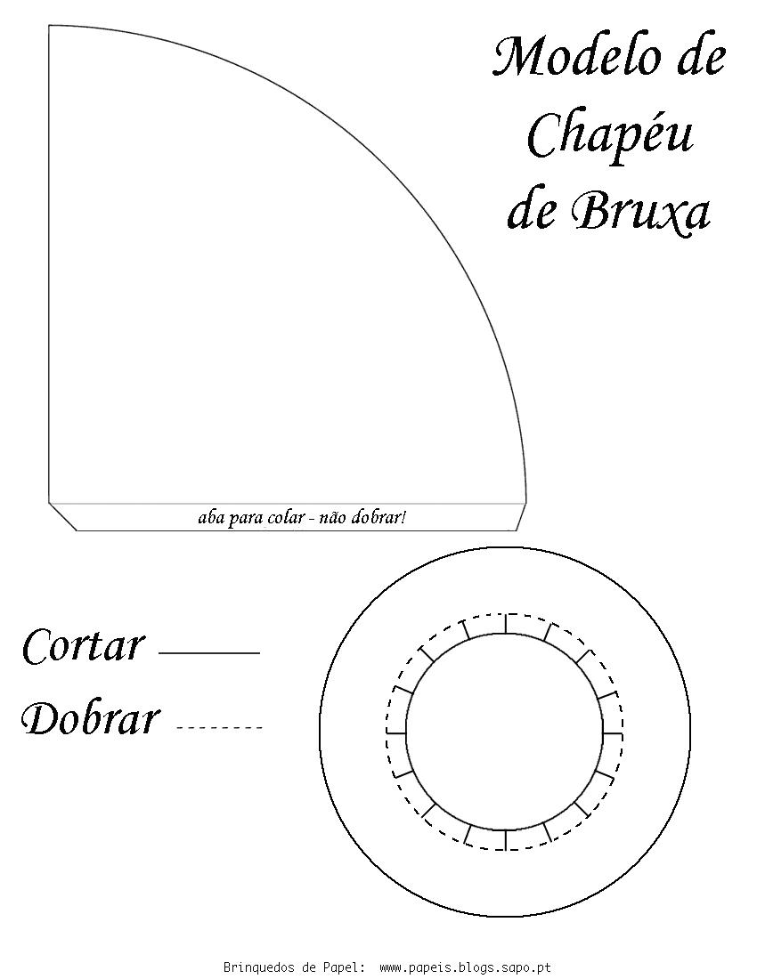Desenho Para Salvar  Ampliar E Imprimir O Molde Do Chap  U De Bruxa