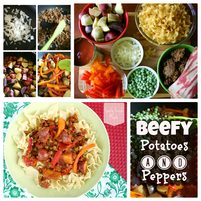 Beefy Potatoes and Peppers