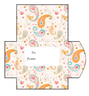 Paisley Print and Cut Gift Card Envelope