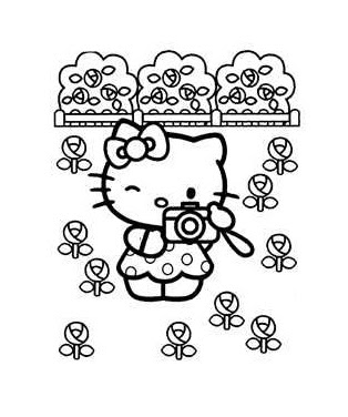 pretty hello kitty coloring pages - photo#43