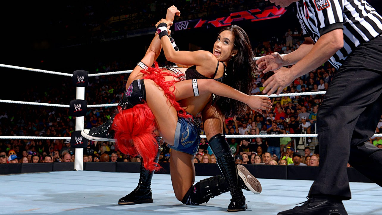 AJ vs Eva Marie-wrestling-female wrestling