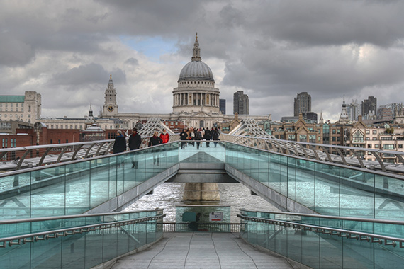"""The Millennium Footbridge"" captured by Robin Brittain."