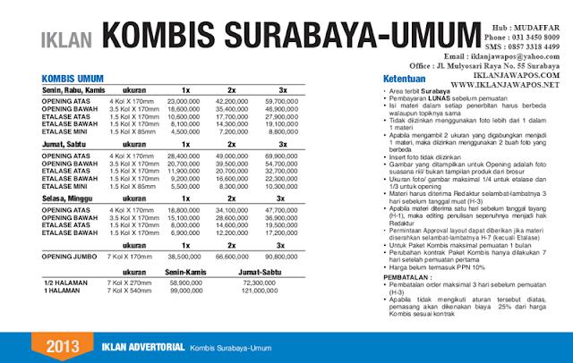 Jawa Pos Iklan Komunikasi Bisnis Surabaya Umum 2013