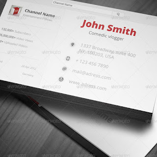 Vlogger Business Card