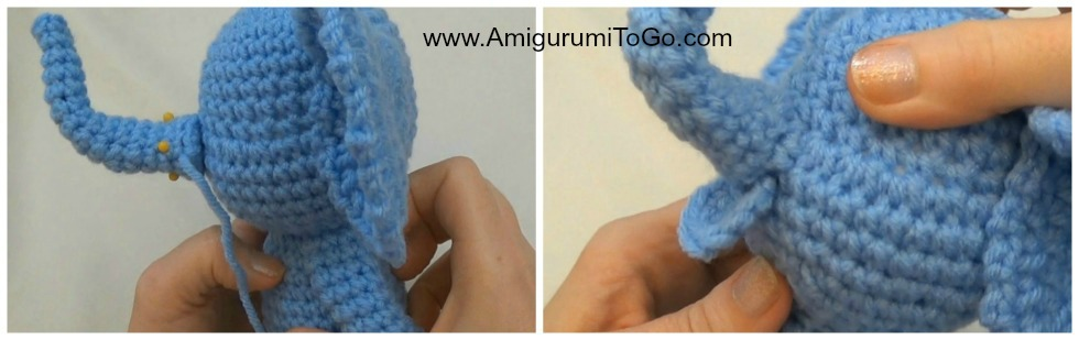 Amigurumi To Go Little Bigfoot Elephant : Little Bigfoot Elephant Video and Pattern ~ Amigurumi To Go