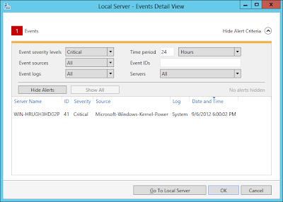 Windows Server 2012 Events