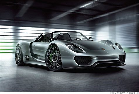 Porsche 918 Spyder Hybrid   Top Speed 199 Mph, 500 Horsepower V8, 78 Miles  Per Gallon.... Cost??? $845,000